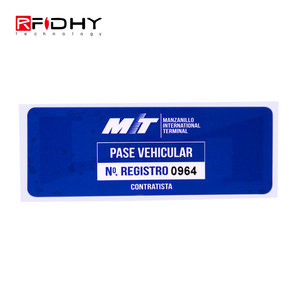 860MHz - 960MHz ISO 18000-6C EPC Class1 Gen2 UHF Tag for Car Windscreen RFID UHF card