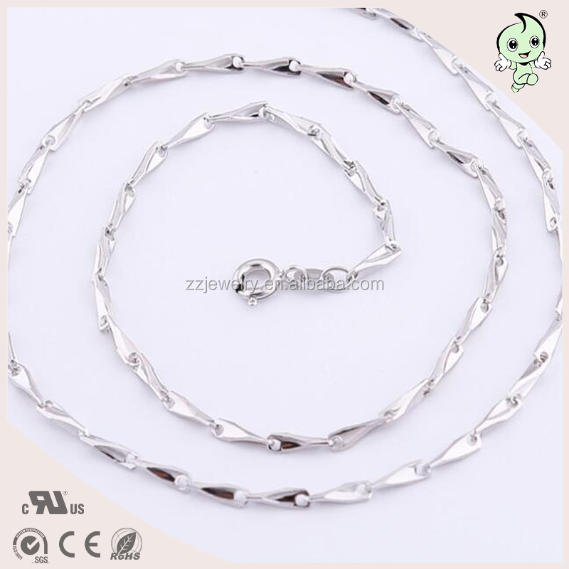 Melon Seed Chain Good Match For Necklace Fashion 925 Sterling silver Necklace