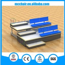 Venus wholesale high quality fixed plastic seat with wooden base stadium seating used gym bleacher