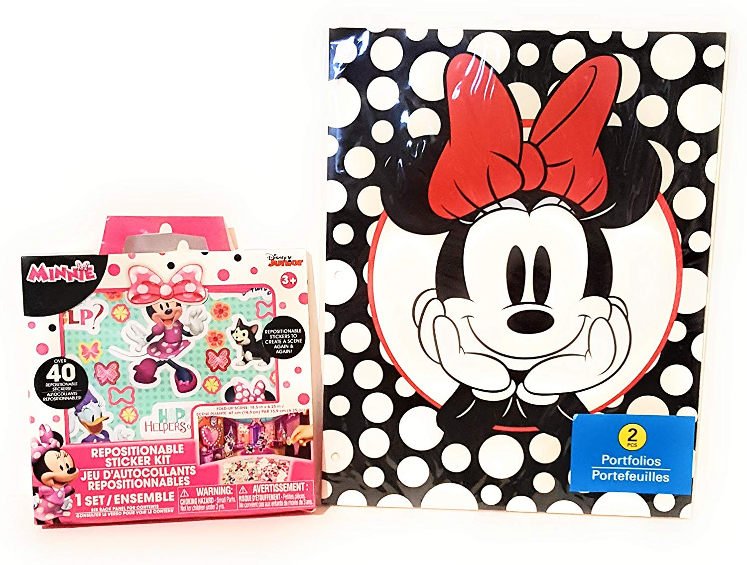 Back to School Student Toddler Pre-school Elementary Middle School Classroom Teacher Room Classroom Room Kids Pocket Folder MINNIE MOUSE BONUS STICKERS