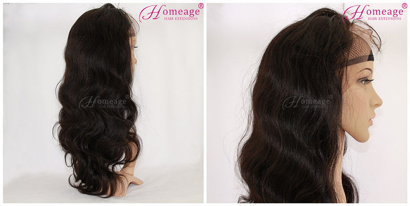homeage new high quality noble remy virgin no shedding wholesale curly hair full lace 100% human hair wigs