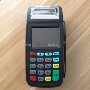 Waypotat low cost New 8210 GPRS wireless handheld POS Terminal with Printer