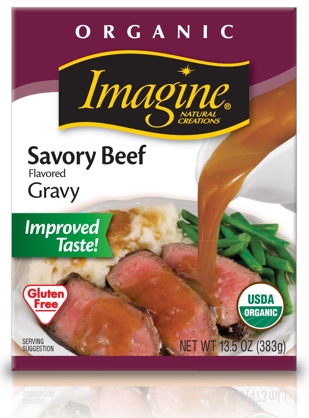 Imagine Organic Gravy, Savory Beef, 13.5 oz. (Pack of 12)