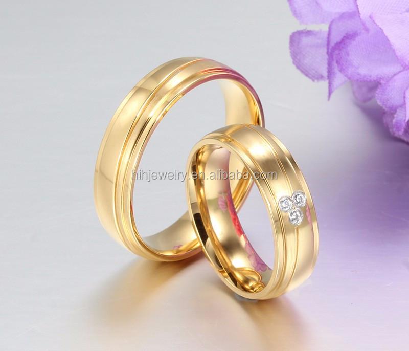 New Model Four-leaf Clover Shaped Ring Fancy Ladies Finger Gold ...