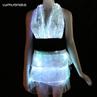 2018 party fiber optic luminous clothes exotic sexy club dresses