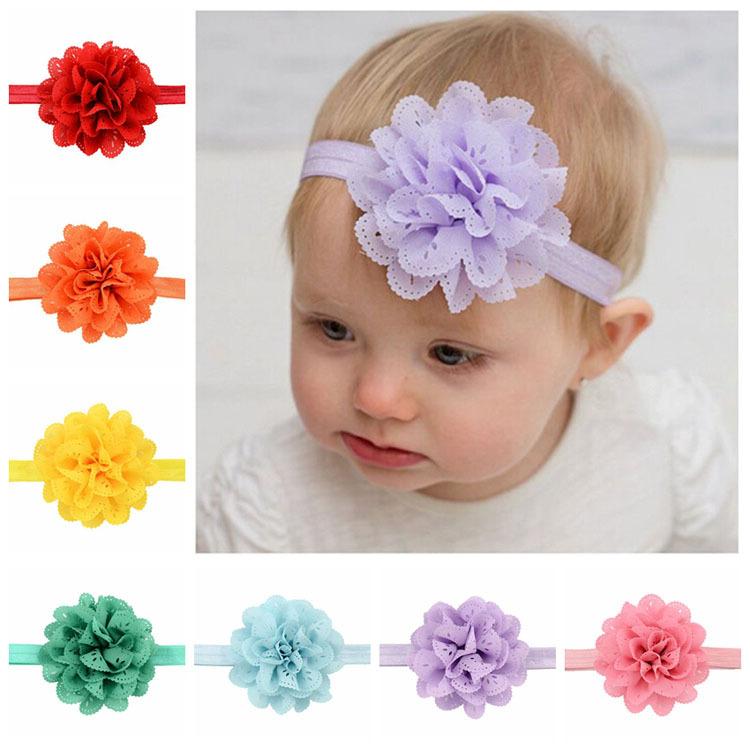 16pcs lot Korean Fashion Baby Flower Headband Girl Hollow Fabric Flowers  Hairbands Infant Baby Girl Newborn ... 1afab7cd00d