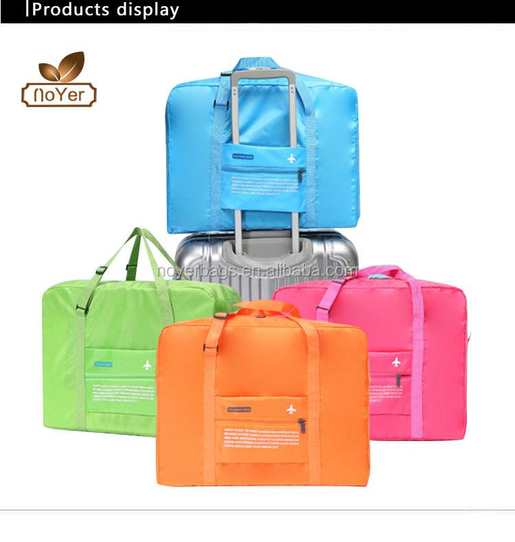 607bff9a136d China factory best foldable duffle bag portable blue sky travel luggage bag