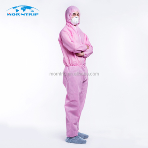 Medical disposable protective clothing pink coverall