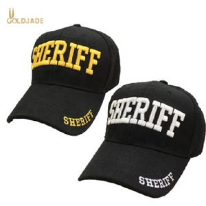 Adjustable security guard wear embroidery baseball caps 6 paneled structure cap