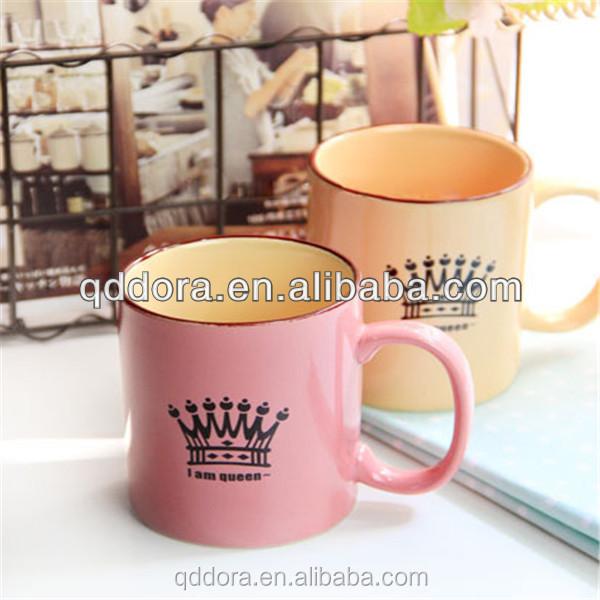 Ceramic Mugs For Sale Part - 24: Lovely Ceramic Milk Mug With Handle/High Quality Decorative Ceramic Mugs/Hot  Sale Creative