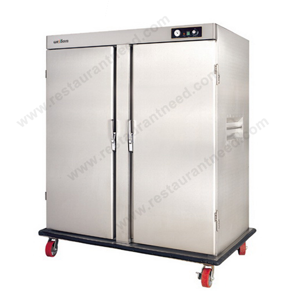 China Kitchen Equipment Wholesale 2 Door Trolley Food warmer cart