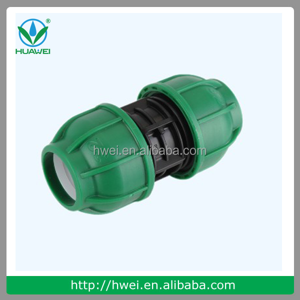PN10 Plastic PP Fitting Compressie Fitting Compressie Coupler