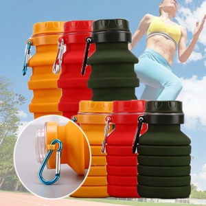 500ML Retractable Folding Portable Silicone Water Bottle Collapsible Sport Drink Kettle Coffee Bottle Outdoor