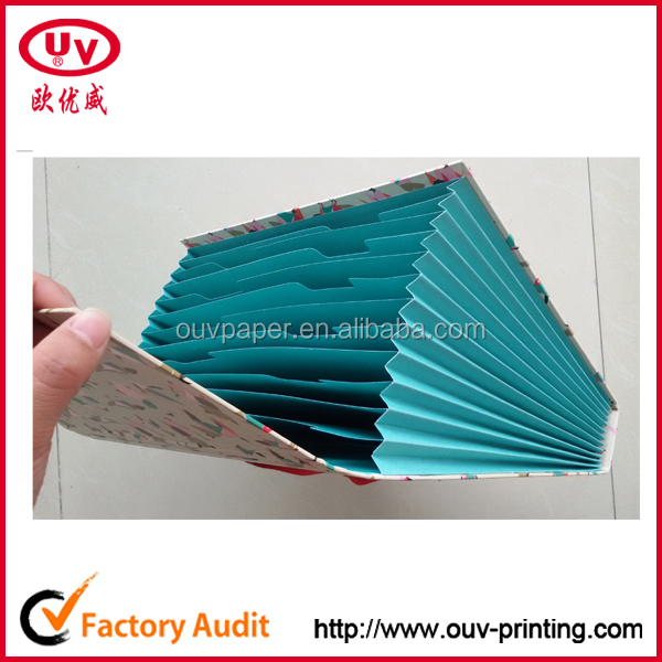 a4 size paper cardboard accordion expanding hard cover file folder - Accordion Folder