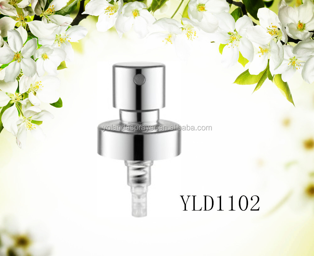 Factory aluminum plastic perfume mist sprayer crimp pump with15mm 18mm 20mm 24mm