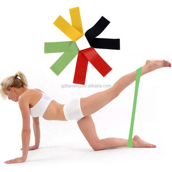 Resistance Loop Bands Set Exercise Bands for Legs Set of 5 Fitness Bands for Physical Therapy