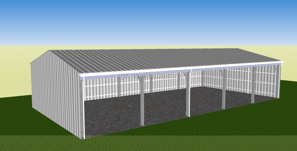 portable barn metallic structure house steel barns for sale