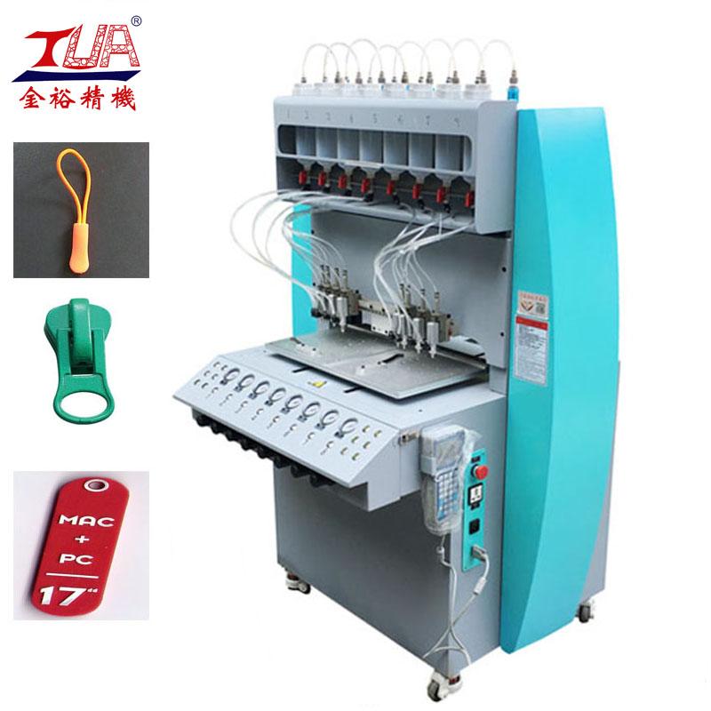 Dongguan 8 Color PVC Injection Zipper Making Machine