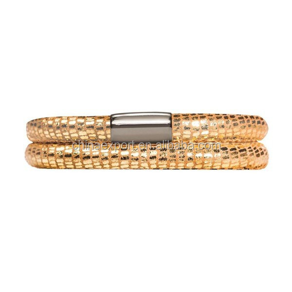 Endless JLo Bracelet Double in Gold Reptile