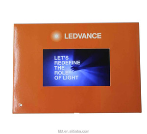 high quality 5inch lcd screen video brochure with light sensor switch