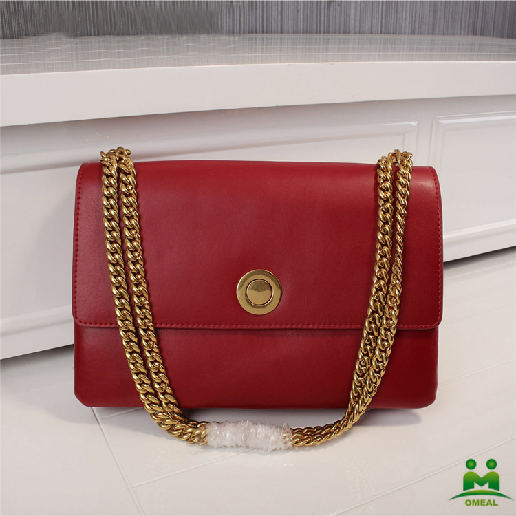 high quality claret red cowhide messenger bag women brand designer bags C2-107 fast shipping dropship