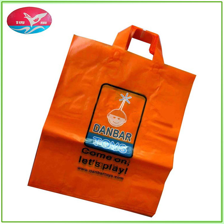 Hot sale customized green PE strong toughness plastic handbag for clothing packaging