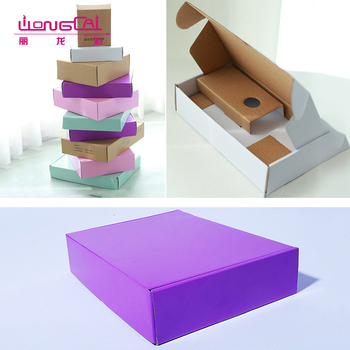 Personalized colorful design flat folding t-shirt packaging boxes paper