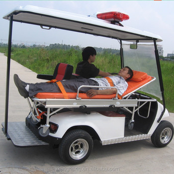 Electric Golf Cart Type Electric Ambulance With 4kw Motor