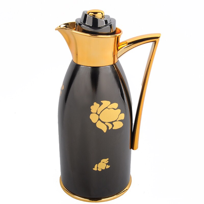 hot sale house use exquisite with stainless steel body and glass liner mini coffee pot,thermos flask