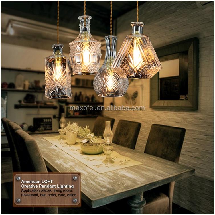 Wholesale Retro ball shape glass hanging pendant light fixtures ...