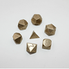 CNC Polyhedral Brass Dice Set Custom