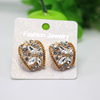 Popular Style Factory Product Rhinestone Alloy Earring Hot Selling In Western Wholesale KPXL064