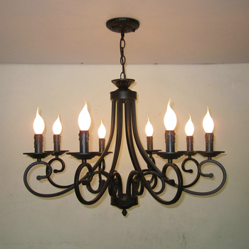 Traditional Clical Lighting Wrought Cast Iron Black Chandelier With 8 Lights 81321 Light