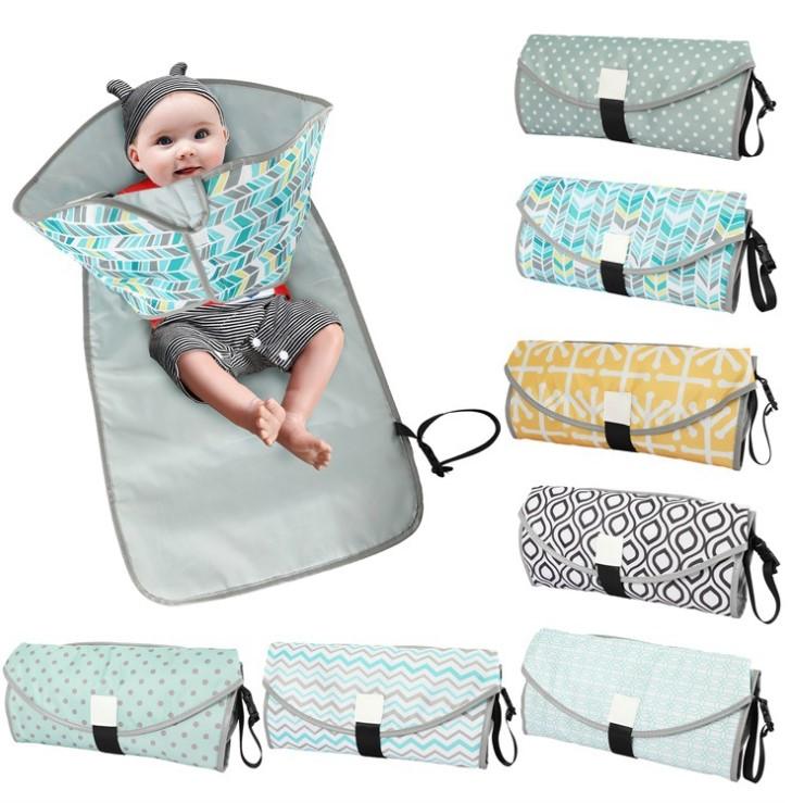 3 في 1 وسادات تغيير الطفل متعددة الوظائف المحمولة الرضع طفل طوي البول حصيرة مقاوم للماء الحفاض حقيبة الطفل تغيير حصيرة