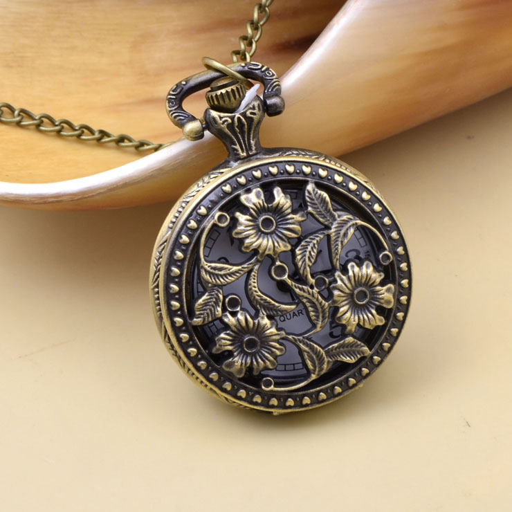 vintage openable owl pocket watch pendant necklace