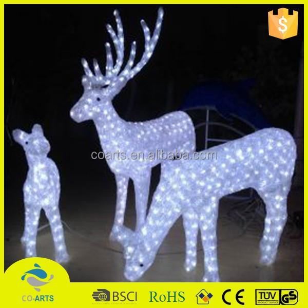 New Type Acrylic Led Christmas Reindeer Outdoor Product On Alibaba