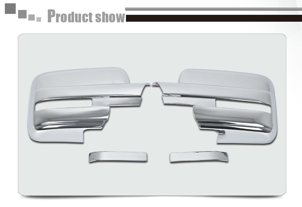 2009-2014 F150 ABS Chrome Plated Truck Accessories Door Side Rearview Mirror Covers Full With Turn Light Signal Cutout