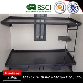 Single Jail Prison Steel Plate Wall Mounted Metal Bed Frame