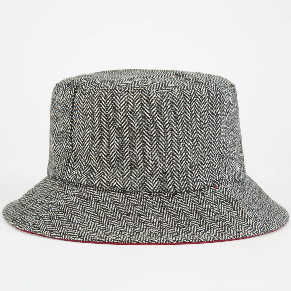 Winter Men Custom Blank Herringbone Wool Bucket Hat - Buy Erringbone ... 482baf86b65