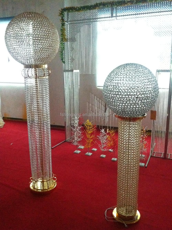 Beautiful Lighted Wedding Stage Pillars Wedding Roman