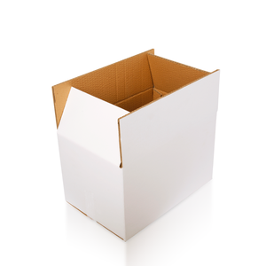 Wholesale waxed white custom cardboard carton corrugated box