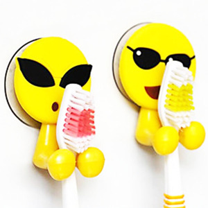 Suction cup kids toothbrush holder for Emoji design