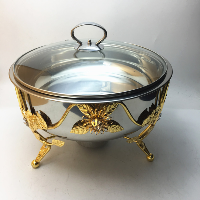 New design Stainless steel brass copper chafing dish gold chafing dish