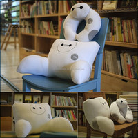 Custom Set of 2 Soft Chair Cushion and Neck Pillow Big Hero 6 Baymax Decompression U-shaped Travel Pillow cute neck pillow