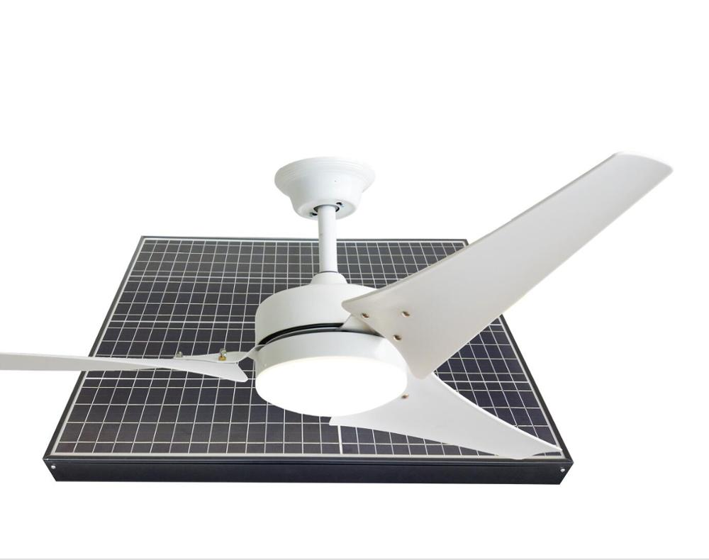 factory price rechargeable remote control solar powered winding machine auto cool 60 inch giant ceiling fan air vent with light