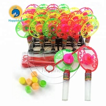 Multi-Color SPINNING TOP Toy Filled แท็บเล็ต Candy หมุนของเล่น Candy