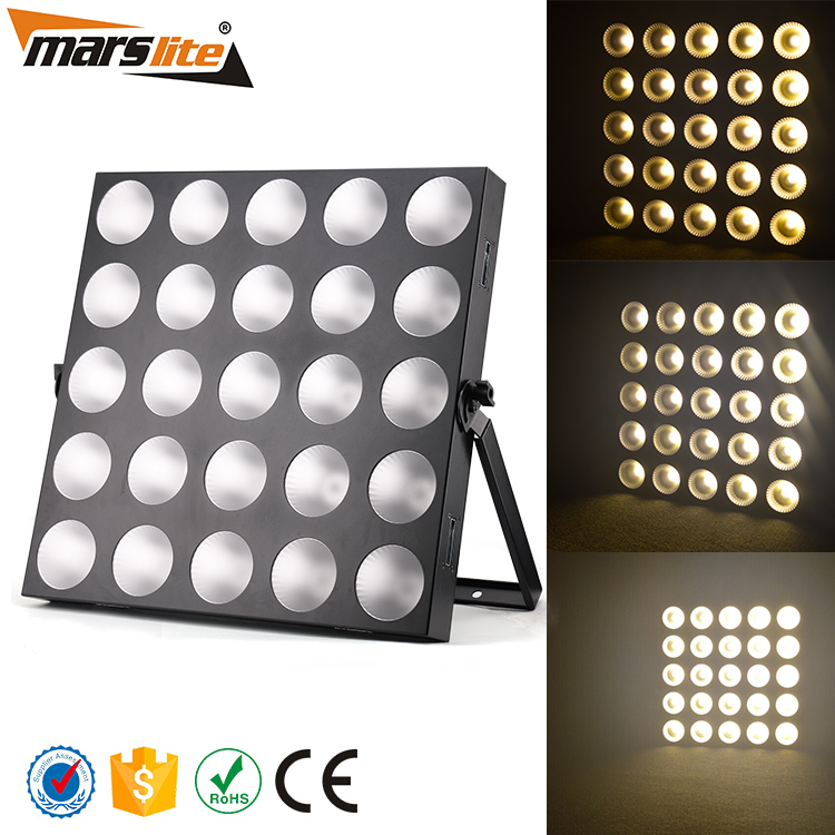 Guangzhou stage lights 25 x 3W warm white color led matrix blinder/ 5 x 5 warm white led matrix nightclub decoration