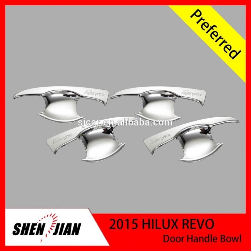 Decoration Car Accessories Chrome door handle bowl For Toyota 2015 Hilux Revo