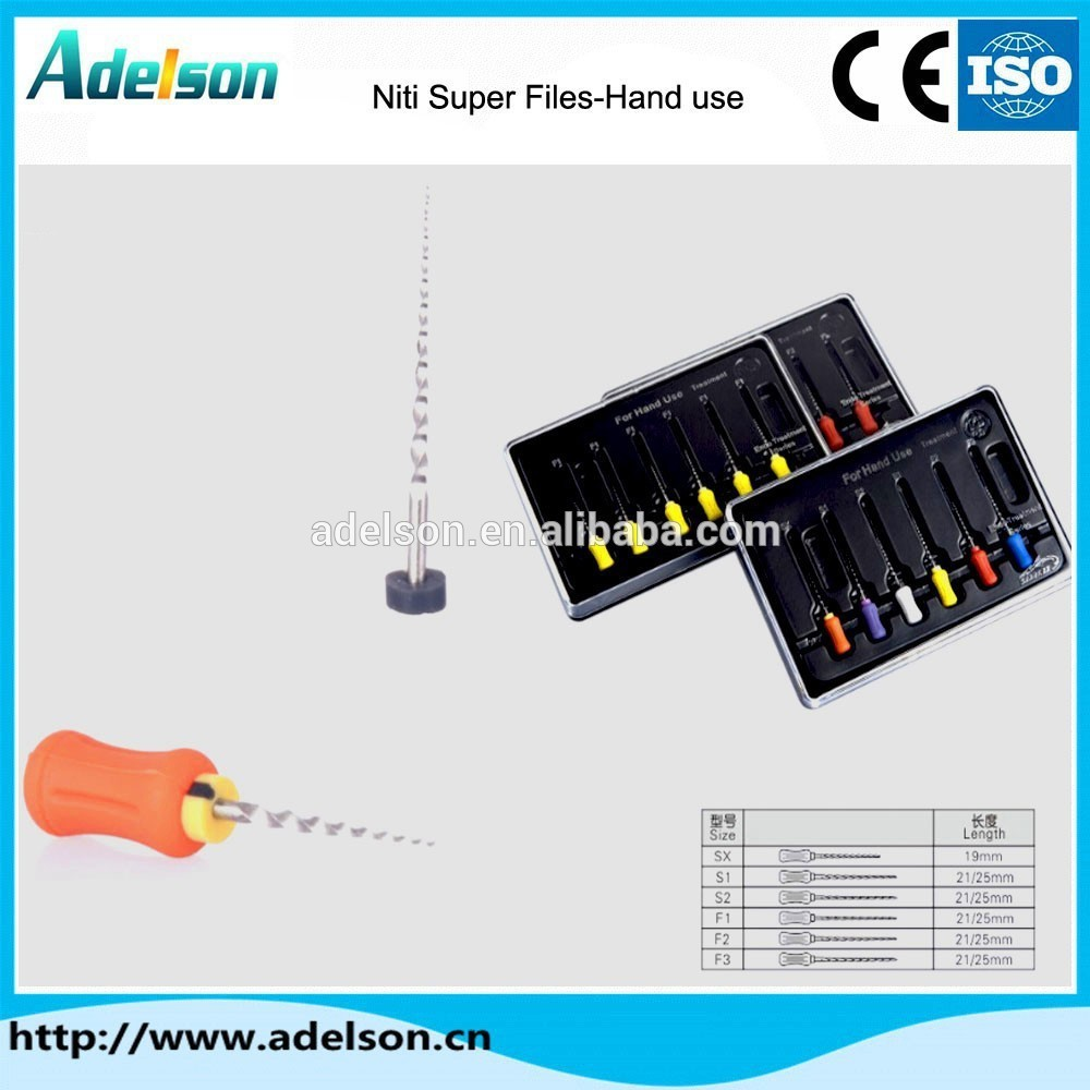 Best Seller Factory Manufacturer hand use Dental niti super files ADS-R09