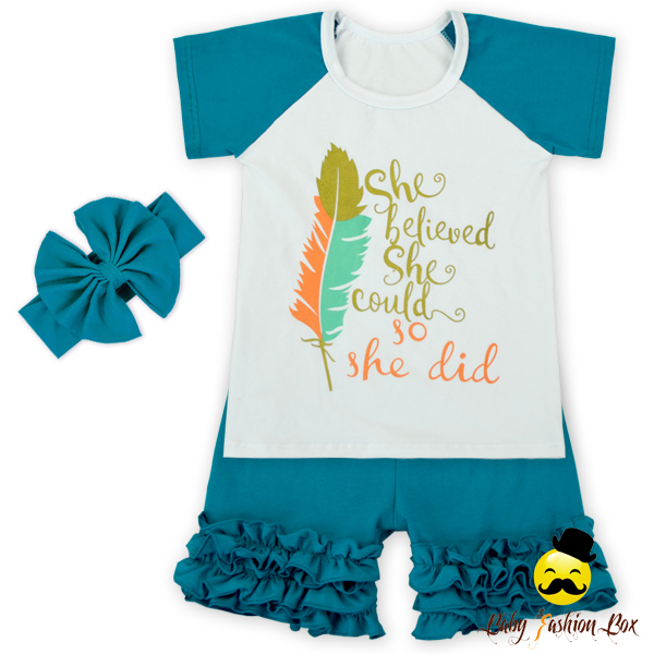 66TQZ258-65 Yihong Infant & Toddlers Summer Icing Short Outfit Children Boutique Sets Little Girl Boutique Clothing